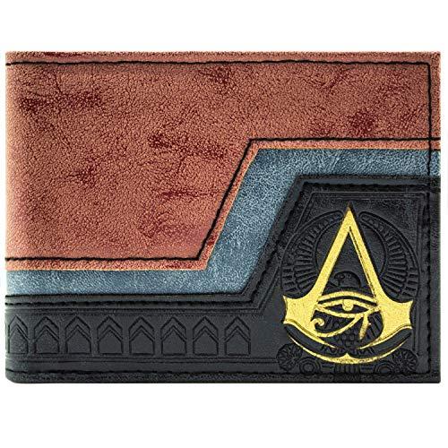Kostüm Assassin Templar - Assassins Creed Origins geprägt Symbol Braun Portemonnaie Geldbörse