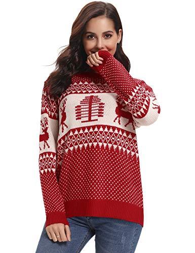 Abollria Colección de Navidad-Suéteres Navideños/Sudadera y Jersey de Navidad/Chaqueta de Punto Navideña para Mujer