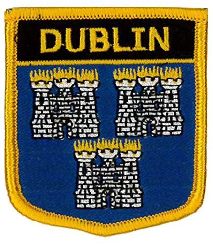 Klicnow Dublín Irlanda Bordado Parche 6cm x 7cm