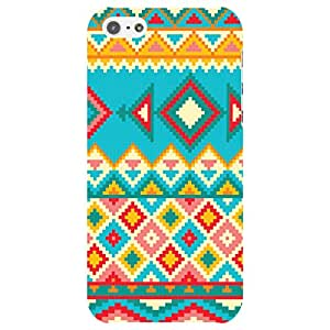 URBAN KOLOURS Original Designer Printed Hard Case Back Cover for Apple iPhone 5 / 5s / 5c (Aztec_Blue)