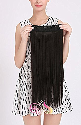 Out of Box Straight Synthetic 24 inch Hair Extension (Natural Brown) With Hair Volume Bumpits
