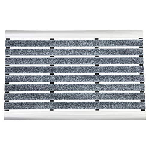WohnDirect Aluminium Fußmatte Innen und Aussen Alu Fussmatten Rutschfest robust Fußabtreter Fussabstreifer Schmutzfangmatte 39x60cm