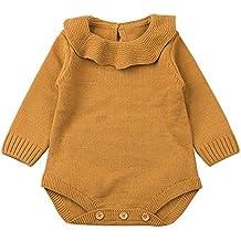 QUICKLYLY Mameluco Punto Invierno Recién Nacido Bebé Niño Niña Manga larga  Elástico Mono Peleles Ropa 20be346a2003
