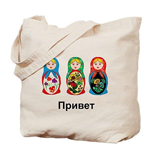 CafePress-hello-goodbye Nesting Dolls-Leinwand Natur Tasche, Reinigungstuch Einkaufstasche Tote S khaki (Russische Lustige Geschenke)