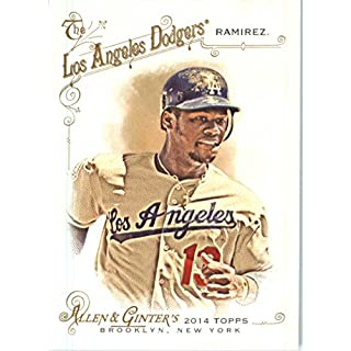 2014 Topps Allen & Ginter Baseball Card # 290 Hanley Ramirez, Los Angeles Dodgers