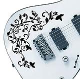Pro Design Vine Of Life Aufkleber Aufkleber Pack passend für alle Gitarren. 24Farbe Optionen. schwarz