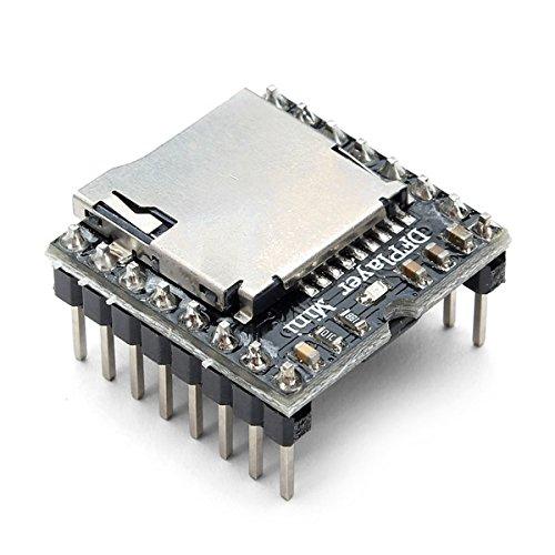 LaDicha 5 Stücke Dfplayer Mini Mp3 Player Modul Mp3 Voice Audio Decoder Board Für Arduino Unterstützung Tf Karte U-Disk Io/Serielle Schnittstelle/Ad -