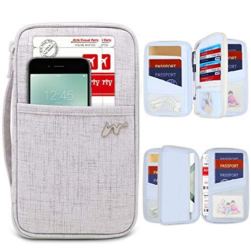 Cartera Viaje Porta Pasaportes Familiar RFID Organizador