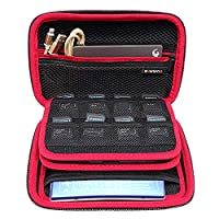 Wencaimd Hard Shell and Accessories Pocket Game Cartridge Holders Storage Bag Travel Carrying Case Shockproof with Handle Protective