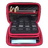 Eizur 3DS XL Case, Tasche Case für Nintendo 3DS XL/3DS, Eva Hart Tasche Schutzhülle, Switch Beinhalteteine Tasche + 24 Spielpatronen Slots - Rot