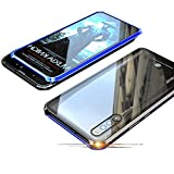 Jonwelsy Huawei Honor Magic 2 Hülle, Stark Magnetische Adsorption Technologie Metallrahmen, Transparent Gehärtetes Glas Rückseite Handyhülle für Huawei Honor Magic 2 (6.39 Zoll)