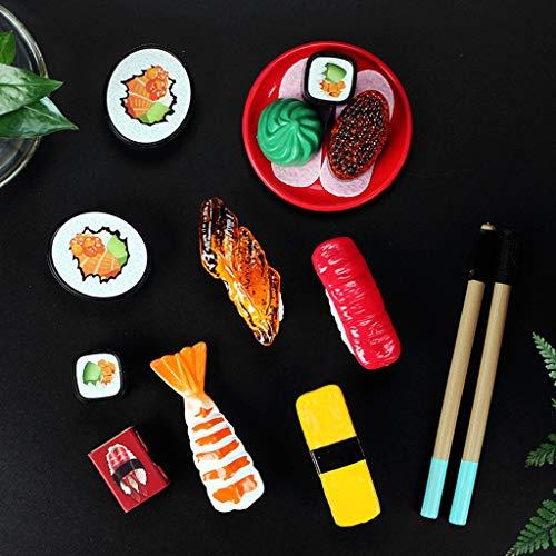 KESOTO 30x Miniatur Sushi Küchenspielzeug, Training der Kinder der Japanischen Lebensmittel Mini Sushi
