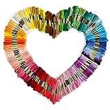 Tinksky Stickgarn Sticktwist Stickgarn 150 Stränge von 8 M multi-Color Threads Floss(Random Color)