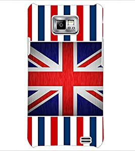 PrintDhaba UK Flag D-5729 Back Case Cover for SAMSUNG GALAXY S2 (Multi-Coloured)