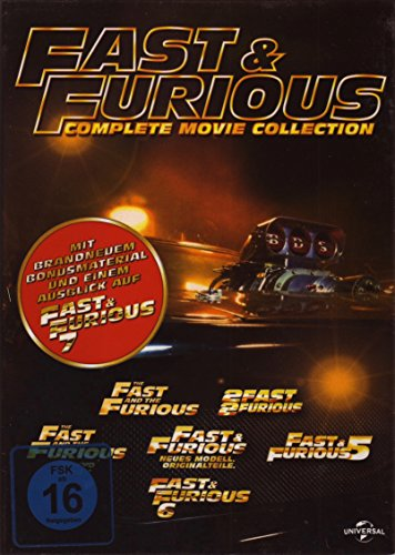 fast and furious dvd box Fast & Furious 1-6 Movie Collection (DVD)