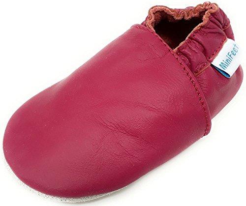 MiniFeet Prime Chaussures Bébé en Cuir Souple, Rose 6-12 Mois