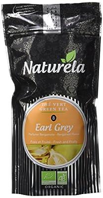 NATURELA Thé Vert Earl Grey Bio Ceylan N° 8 100 g - Lot de 6