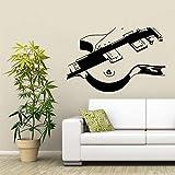 ganlanshu Sticker Mural Guitare électrique Musique Vinyle Art Mural Autocollant Mural décoration de la Maison décoration Murale décoration Murale 118 cm x 79 cm