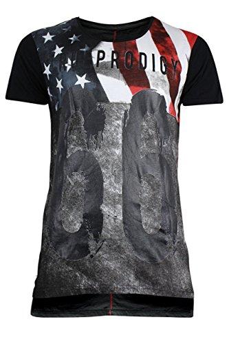 trueprodigy Casual Herren Marken T-Shirt mit Aufdruck, Oberteil cool und stylisch mit Rundhals (kurzarm & Slim Fit), Shirt für Männer bedruckt Farbe: Schwarz 1072152-2999 Black