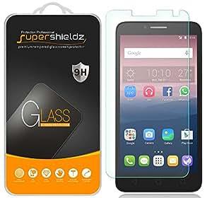 [2-Pack] Alcatel OneTouch Flint Tempered Glass Screen Protector, Supershieldz Anti-Scratch, Anti-Fingerprint, Bubble Free [ Lifetime Warranty]