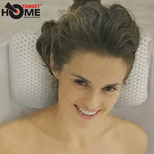 Target Homewares® Grand oreiller de haute qualité pour baignoire, antibactérien, pour se détendre