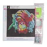 Kongqiabona 30 * 30 CM Farbe Affe Stickerei DIY Handvoll Runde Diamanten Überzogene 5D Kreuzstich Gemälde Handwerk