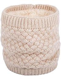 ANGTUO Bufanda de punto unisex, Bufanda de abrigo de invierno con cuello grueso y bufanda para mujer y hombre Bufanda de cuello - Mejor regalo