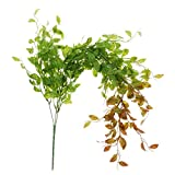 B Blesiya Grüne Künstliche Blumen Girlande Rebe Blumengirlande Hängepflanzen Balkon Ornament Hochzeitsdeko - Rot