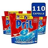 Pril Gel, 5 confezioni da 22 capsule, 110 capsule