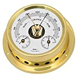 Fischer Station météo 1508BTH-45 baromètre thermomètre hygromètre laiton, 125 mm