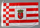Bootsflagge Bremen 30 x 45 cm in Profiqualität Flagge Motorradflagge