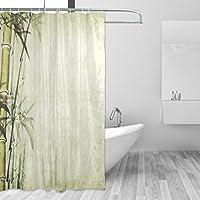 Jstel Chinesische Malerei Bambus Duschvorhang Schimmelresistent Und  Polyester Wasserdicht 182,9 X 182
