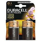 Duracell Plus Power Batterie alcaline, Torcia, D, confezione da 2
