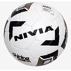 Nivia FB-293 Shining Star 2022 Football (Size : 5, Black & White)