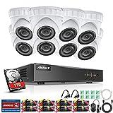 ANNKE Überwachungskamera Set, 8CH 3.0MP 5 in 1 HD DVR Recorder + 8