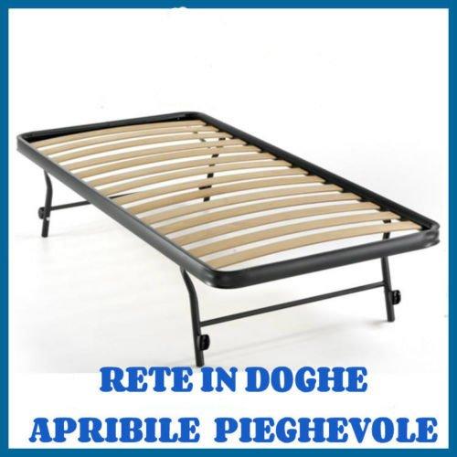 RETE A DOGHE STRETTE ESTRAIBILE PER LETTO SINGOLO 80X185 ORTOPEDICA APRIBILE PIEGHEVOLE (185 Centimetri)