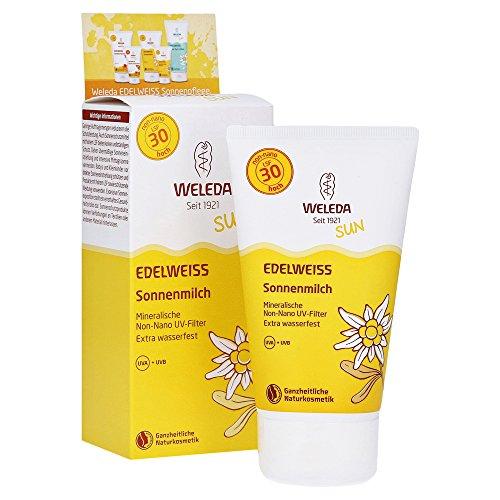 Weleda Edelweiss Sonnenmilch LSF 30 (1 x 150 ml) - Sonnencreme, Sonnenschutz