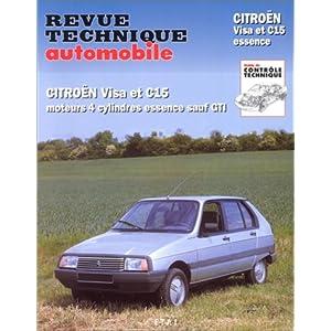 Revue technique de l'Automobile numéro 387.8 : Citroën Visa et c15 essence sauf GTI, 1979-1989