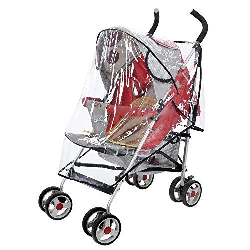 Hochklappbar Regenschutz für Kinderwagen,Universal Buggy Regenverdeck,85x90x46cm