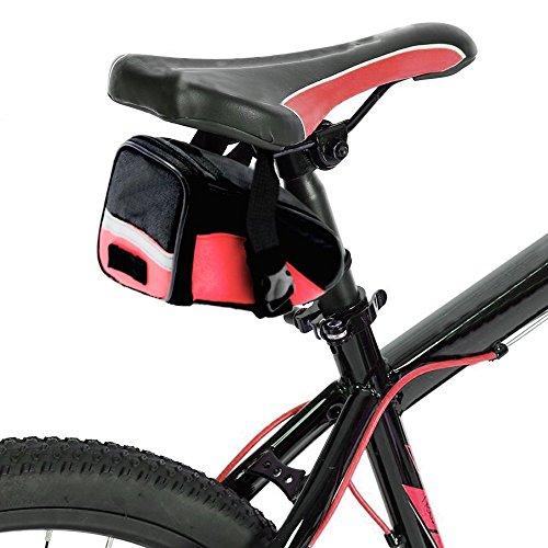 Preisvergleich Produktbild KurtzyTM Satteltasche Fahrrad Wasserresistent Rot Fahrradsattel Tasche