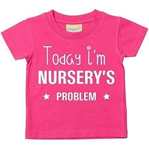 Today I'm Baumschule Problem T-shirt Baby Kleinkind Kinder verfügbar in den Größen 0-6 Monate bis 14-15 Jahre Verschiedene Farben Erhältlich - Rosa, 24-36 Months