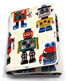 Cath Kidston Trifold Ticket Holder OC Robots Wallet Card Purse Oyster Bus Train
