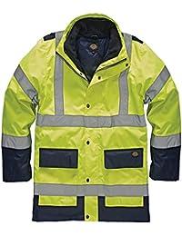 Dickies SA7006 YLNXL Size X-Large 3-in-1 Hi Vis Jacket - Yellow/Navy Blue