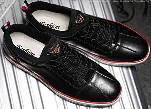 DADAWEN Hommme chaussures de sport Cricket Noir