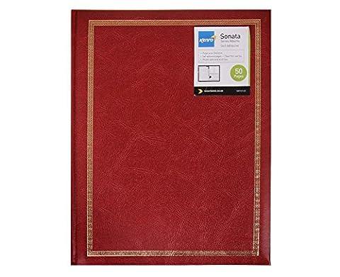 Sonata Photograph Album 25 Pages - Color: Red