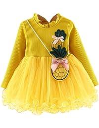 Amazon.it  vestiti bambina - Giallo   Gonne e gonne pantalone ... 6455aa71095