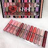 #6: NYX velvet matte liquid lipstick 12pcs set