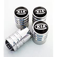 Protrex UK® Kia Deluxe–Tapones para válvula de rueda con caja de presentación. Picanto Sportage C 'eed Carens Rio Sedona Venga Optima