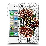 Head Case Designs Tiger Druck Modische Patches Ruckseite Hülle für iPhone 4 / iPhone 4S