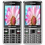 KECHAODA K35 (Combo Of Two MOBILES) Basic Feature Mobile Phone With Dual SIM, 2.4 Inch Display (Black+Grey)